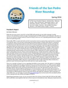 Winter/Spring 2016 River Roundup Newsletter of FSPR